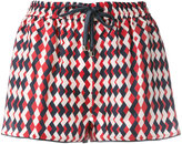 F.R.S For Restless Sleepers - printed drawstring shorts - women - Silk - S