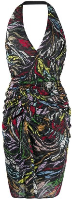 Missoni Abstract-Print Halterneck Dress