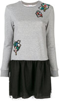 RED Valentino embroidered knitted dress - women - Cotton/Polyester - XS