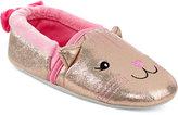 Stride Rite Little Girls' Sparkle Cat Loafer Slippers