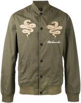 MHI embroidered snake bomber jacket
