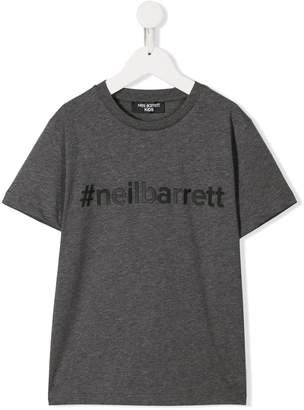 Neil Barrett Kids hashtag logo T-shirt