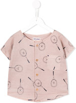 Bobo Choses tennis racket print T-shirt - kids - Cotton/Linen/Flax/Spandex/Elastane - 4 yrs
