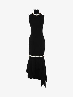 Alexander McQueen Metallic Sphere Knitted Dress