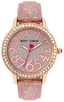 Betsey Johnson Betseys Boxed Blushing Shimmer Watch