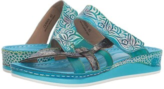 Spring Step L'Artiste by Caiman (Aqua) Women's Shoes