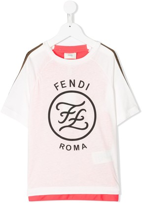 Fendi Kids Karligraphy print T-shirt