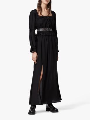 AllSaints Kimi Ruched Maxi Dress