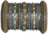 Indian Bridal Collection! Panache' Bangles Set in Gold Tone By BangleEmporium. Small
