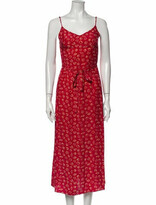 Thumbnail for your product : HVN Silk Long Dress Red
