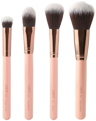 Luxie Face Complexion Brush Set Rose