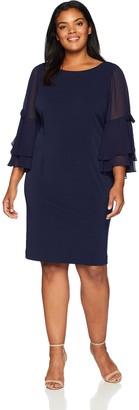 Brinker & Eliza Women's Size Shift Dress with Bell Sleeves