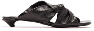 Proenza Schouler Knot Square-toe Leather Mules - Womens - Black