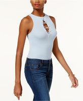 GUESS Arya Sleeveless Lace-Up Cutout Bodysuit