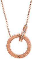"Michael Kors 18"" Crystal Pavé Circle Necklace"