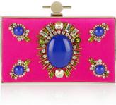 Jason Wu Karlie crystal and stone-embellished satin box clutch