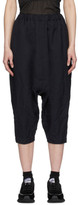 Comme des Garcons Navy Twill Pull-On Trousers