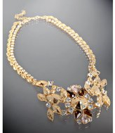 Rachel Leigh gold and crystal 'Fitz' bib double layer necklace