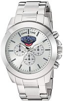 Game Time Women's 'Knock-Out' Quartz Stainless Steel Automatic Watch, Color:Silver-Toned (Model: NBA-TBY-NO)