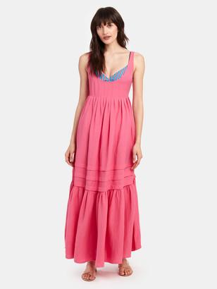 Solid & Striped Empire Linen Maxi Dress