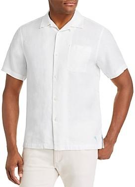 Tommy Bahama Sea Glass Camp Regular Fit Short-Sleeve Linen Shirt