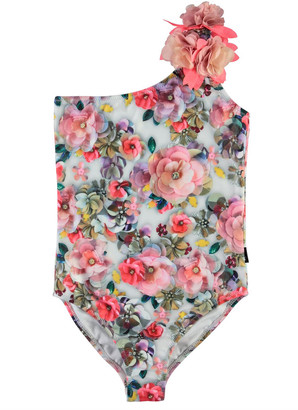 Molo Girl's Nai Floral One-Piece Swimsuit, Size 2-12