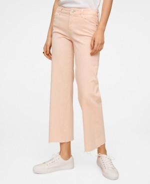 MANGO Women's Culotte Mid Waist Jeans