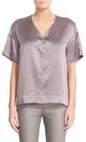 Lafayette 148 New York Women's Caprice Chain Neck Silk Blouse