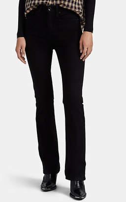 Pt01 Women's Jaine Faux-Leather Crop Flared Trousers - Black