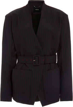 Rachel Comey Clinch Belted Stretch-Wool Jacket