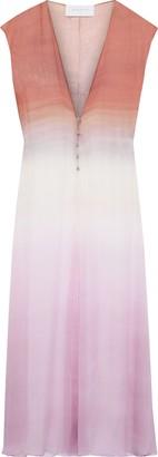 Esteban Cortazar Degrade Crinkled Silk-chiffon Midi Dress