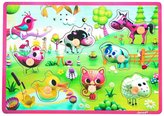 Janod Meadow Friends Musical Puzzle