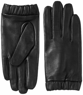 Urban Outfitters UNDER ZERO Womens Touch Screen Black Sheepskin Lined Gloves