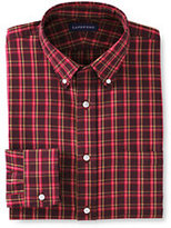 Classic Men's Traditional Pattern Port Flannel Buttondown Shirt-Pink Plaid