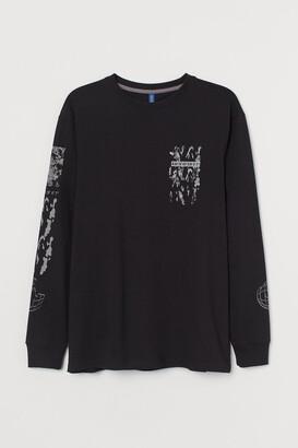 H&M Long-sleeve printed jersey top