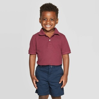 Cat & Jack Toddler Boys' Short Sleeve Pique Uniform Polo Shirt - Cat & JackTM Air