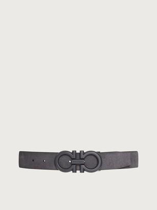 Salvatore Ferragamo Men Adjustable Gancini belt Grey