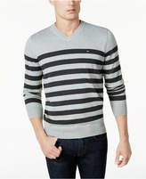 Tommy Hilfiger Men's Signature Seattle Striped V-Neck Sweater