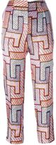 MSGM geometric print trousers - women - Silk/Polyester - 40