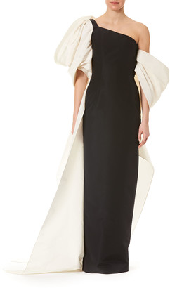 Carolina Herrera Dramatic Bow Column Gown