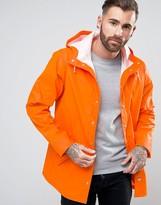 Asos Shower Resistant Rain Coat In Orange