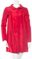 Moschino Satin Knee-Length Coat
