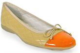 French Sole PassportR - Ballet Flat in Beige