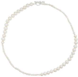 WWW.WILLSHOTT Off-White Alternating Fused Pearl Necklace