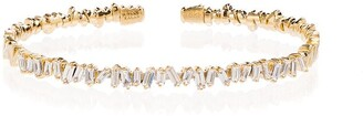 Suzanne Kalan 18K yellow gold and diamond Fireworks cuff