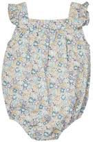 Marie Chantal Baby GirlLiberty Floral Bubble Romper - Mint/Lavender