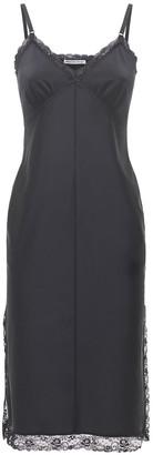 Alexander Wang Fitted Midi Dress W/ Lace Trim