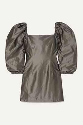 AVAVAV Silk-charmeuse Mini Dress - Charcoal
