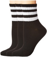 adidas Originals Ankle 3-Stripe 3-Pack Quarter Socks Women's Quarter Length Socks Shoes