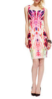 Debbie Shuchat Abstract Print Sheath Dress